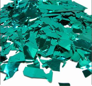 Metallic Teal Confetti by the pound