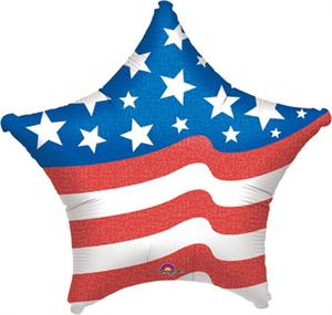 Patriotic Star Balloon