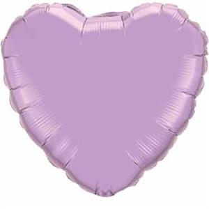 Lavender Heart Shaped Balloon Helium Quality