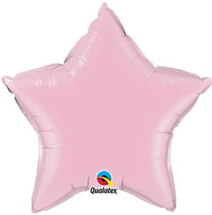 Pearl Pink Star Shaped Balloons