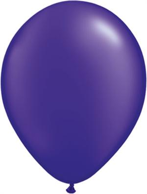 Pearl Purple Balloons, 100 Count