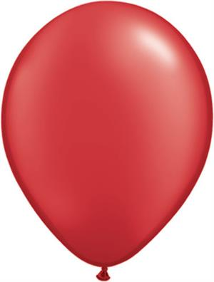 Pearl Ruby Red Balloons made in America