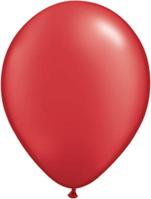 "Pearl Ruby Red Balloon, 11"" Biodegradeable"