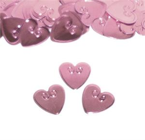 Pink Heart Confetti Metallic Embossed