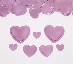 Pink Heart Confetti Assorted Sizes