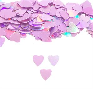 Shimmering Pink Prismatic Heart Confetti