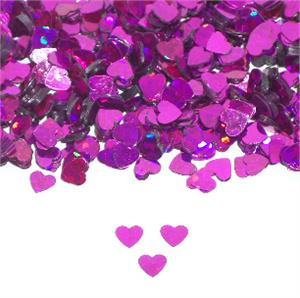 Prismatic Purple Heart Confetti