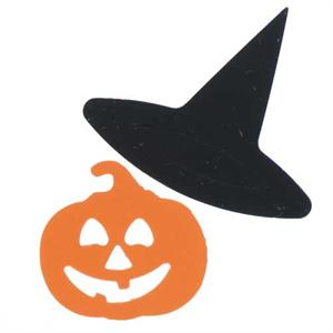 Pumpkin Confetti with Witches Hat