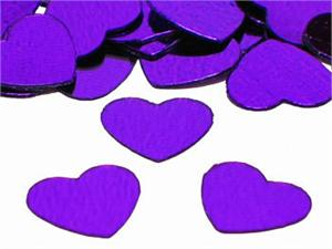 Metallic Purple Heart Shaped Confetti
