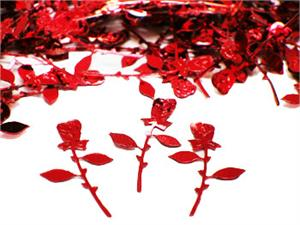 Red-Rosebud Confetti Metalllic