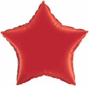 Red Star Shaped Mylar Balloons