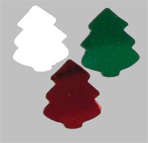 Metallic Christmas Tree Confetti Red, White and Green