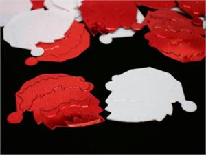 Red and White Santa Claus Face Confetti