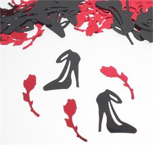 Rose and High Heel Shoe Confetti
