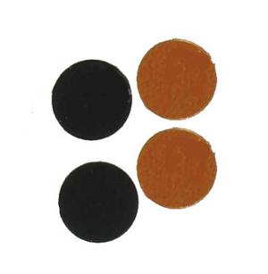 Black and Orange Round Confetti