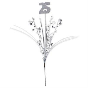 Glitter Silver 25th Centerpiece Sprays