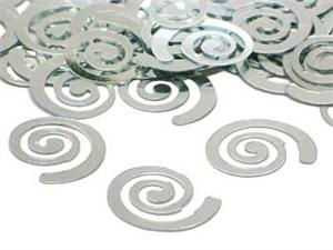 Metallic Silver Curly Q Confetti