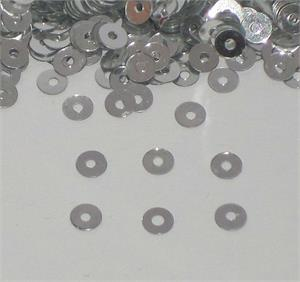 Tiny Silver Sequins 1/8""