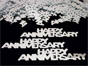 Silver Happy Anniversary Party Confetti