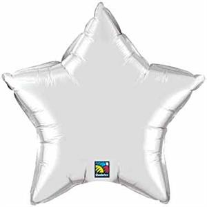 Silver Star Shaped Balloons