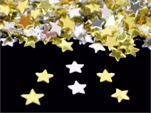 Bulk Silver and Gold Star Shaped Confetti