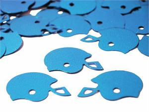 Bulk Metallic Blue Football Confetti