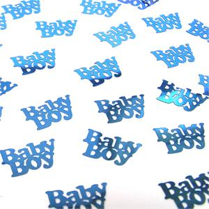 Metallic Baby Boy Confetti Sky Blue