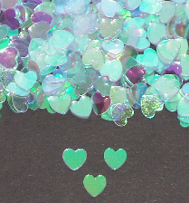 Small Iridescent Heart Shaped Confetti