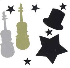 Musical Instrument Confetti Cellos Glitter