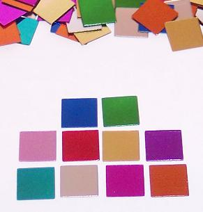 Square Confetti Metallic Bright Colors