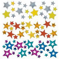 Star Shaped Confetti 3 Pack