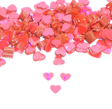 Prismatic Strawberry Pink Heart Confetti