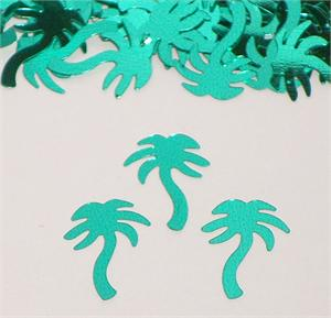 Metallic Palm Tree Confetti Turquoise Bulk