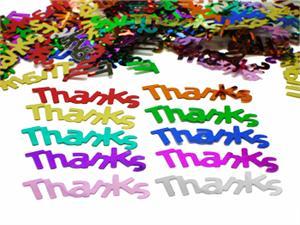 thank you confetti multi colored thanks confetti bulk free shipping