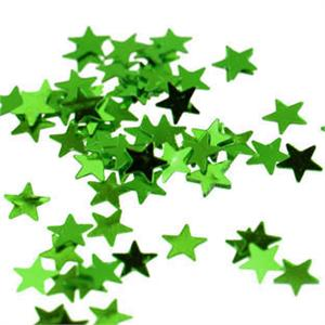 Tiny Green Metallic Star Confetti 1/8""