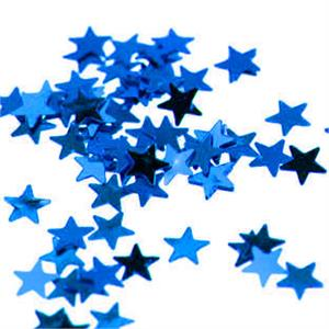 Bulk Royal Blue Metallic Star Shaped Confetti
