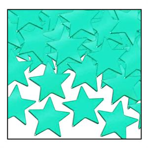 Large Metallic Turquoise Star Confetti