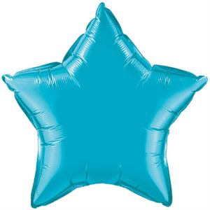 Turquoise Star Shaped Balloon, 20""