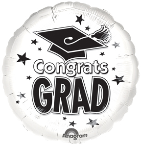 White Graduation Balloon