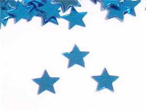 Metallic Sky Blue Star Shaped Confetti