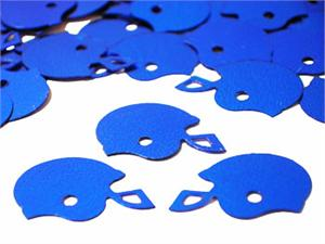 Blue Football Confetti