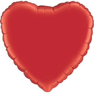 Ruby Red Heart Shaped Mylar Balloon