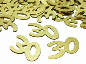 Gold Number 30 Confetti