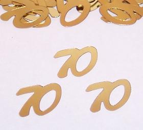 Number 70 Confetti, Gold