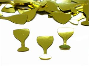 Gold Champagne Confetti Glasses
