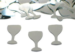 Silver Wine Glass Confetti