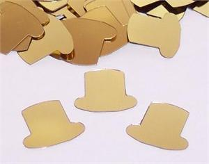 Gold Top Hat Confetti, Top Hats
