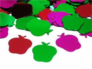 Apple Confetti, Multi Colored Metallic