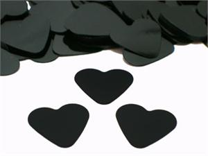 Black Heart Confetti, Black 3/8""