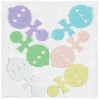 Pastel Baby Rattle Confetti